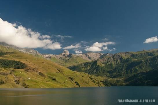 Der südliche Teil des Lac de Roselend